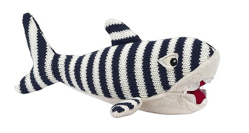 Bruce the Shark Knit Rattle