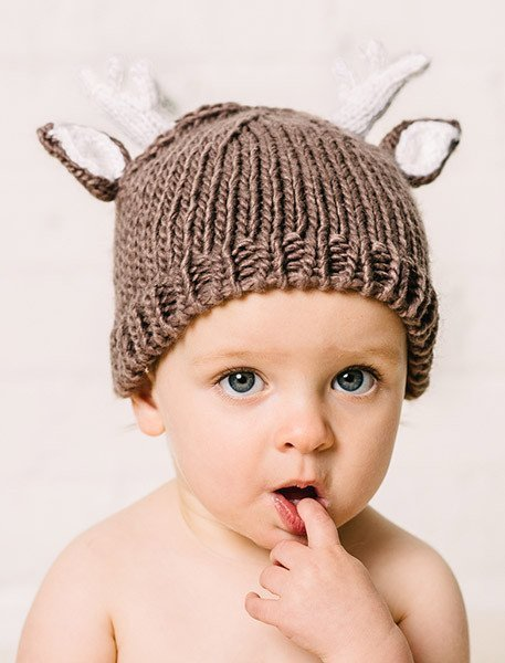 41ad4613654 Deer Knit Hat By The Blueberry Hill