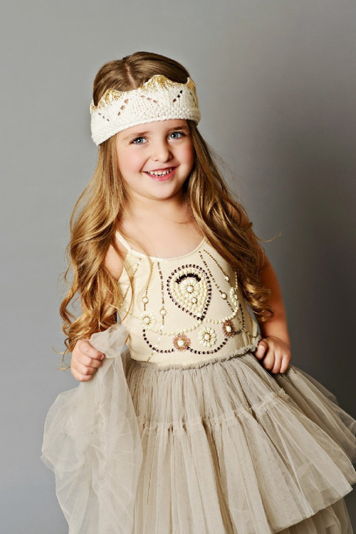 Cream Crown with Gold