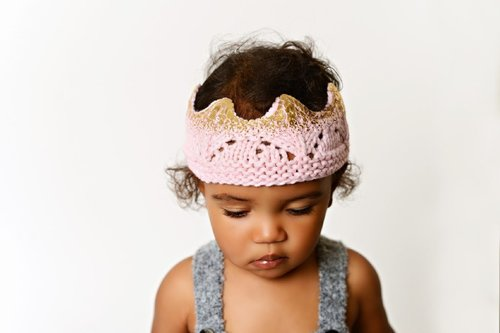 Pink Crown with Gold