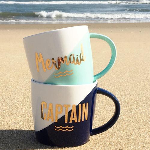 Mermaid & Captain Mug Set