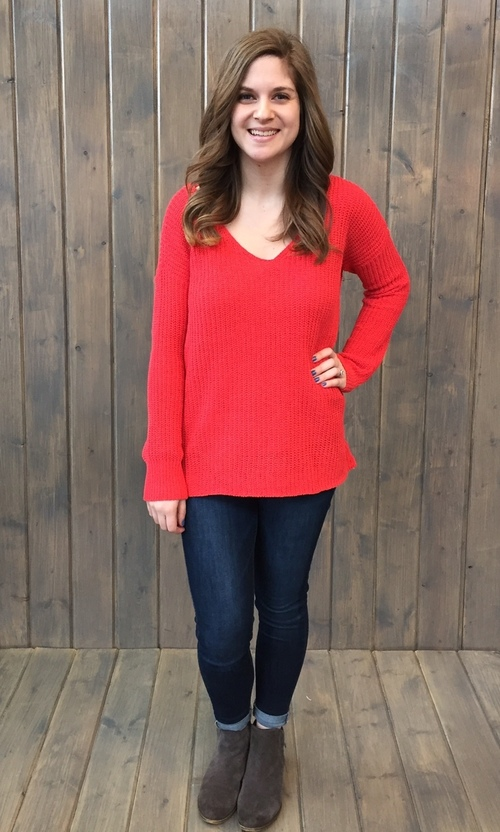 Zona Valentine Red Sweater