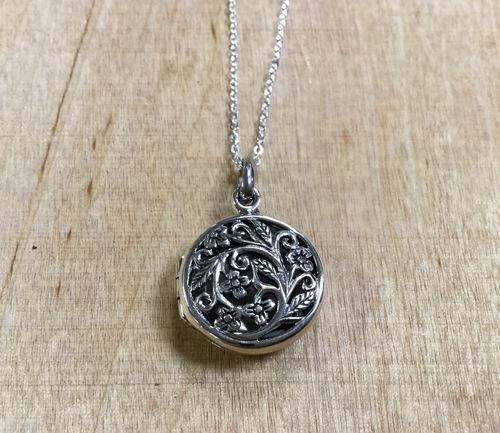 Filigree Round Locket Necklace