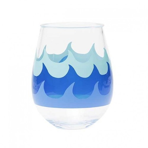Acrylic Stemless Wine Glass Wave