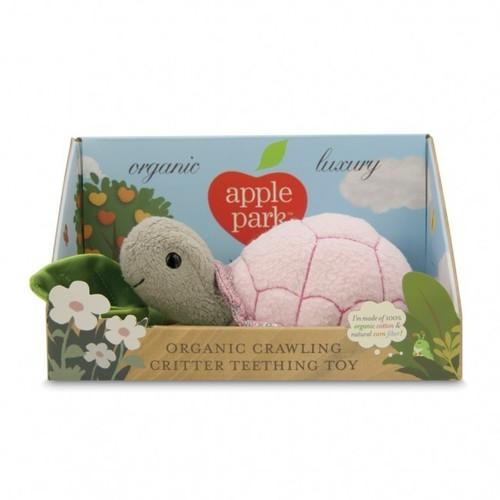 Teething Toy Turtle Pink