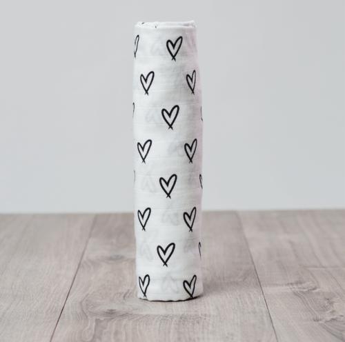 Hearts Bamboo Blanket