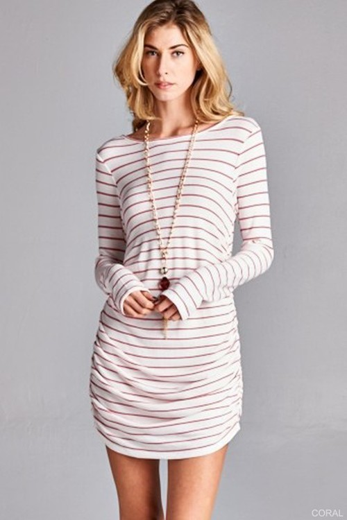 Isabelle ruched mini dress