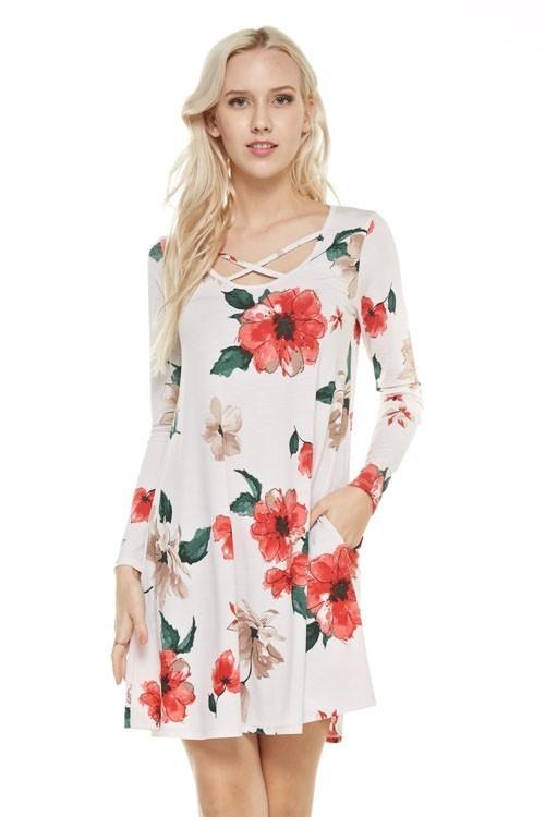 Fiona swing dress w/ pockets
