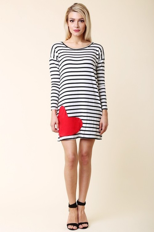 L'Amour striped tunic