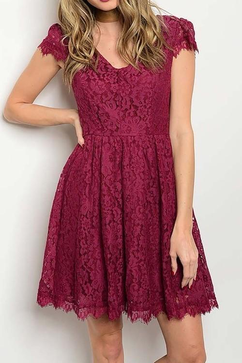 Sophia lace cocktail dress