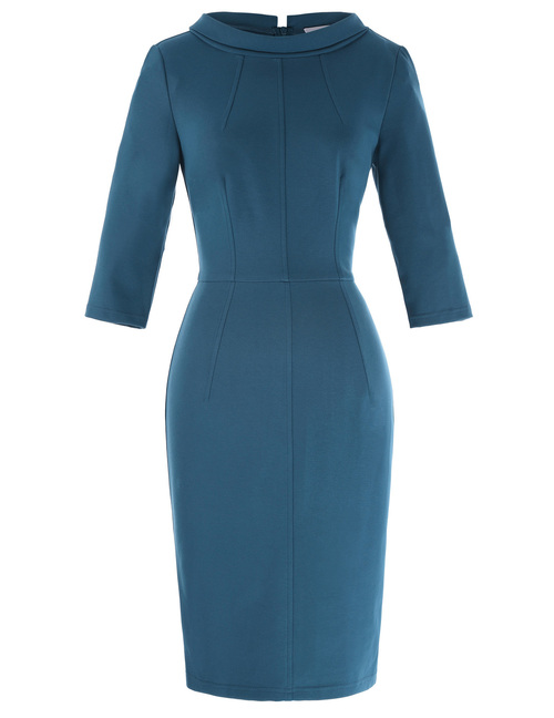 Jackie O dress in Air Force Blue