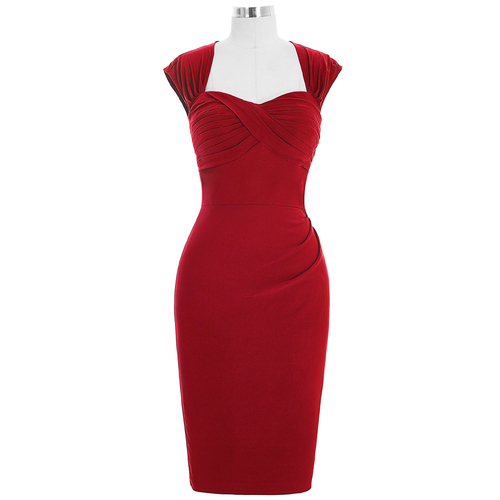 Margot Dress in Red or Black