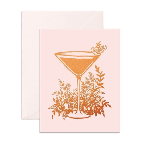 Floral Cocktail Card
