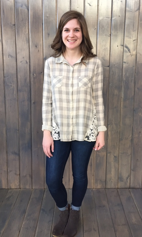 Wild Craft Dove Grey Button Down