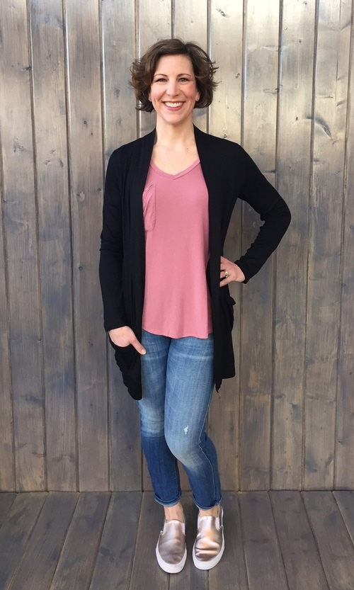 Black Cardigan w/ Pockets