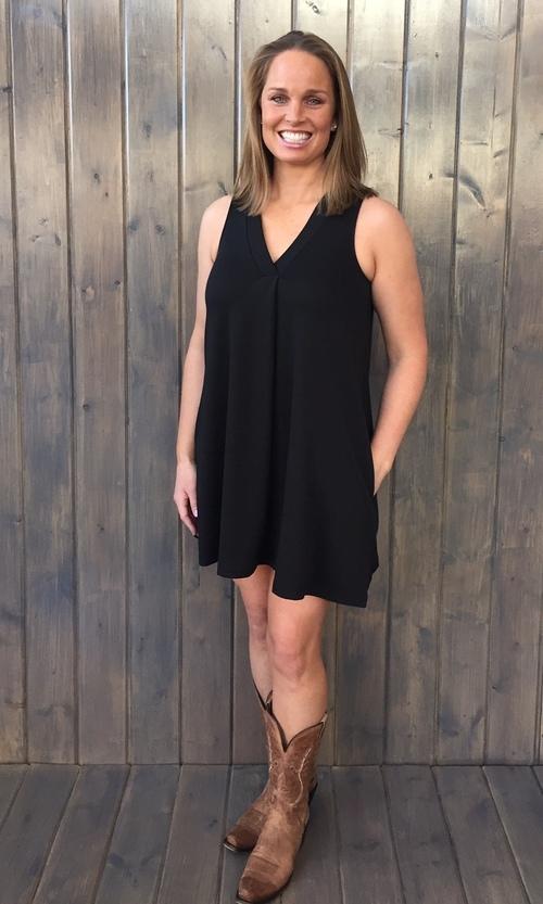 Olivia Ponte Dress Black