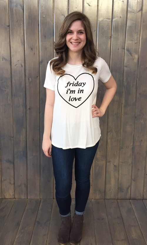 Friday I'm In Love Tee White