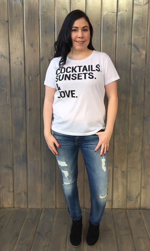 Cocktails Sunsets Love Tee