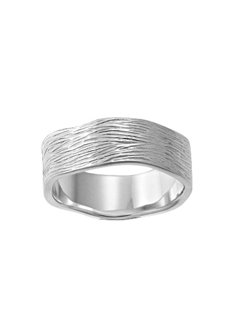 Brush Silver Ring
