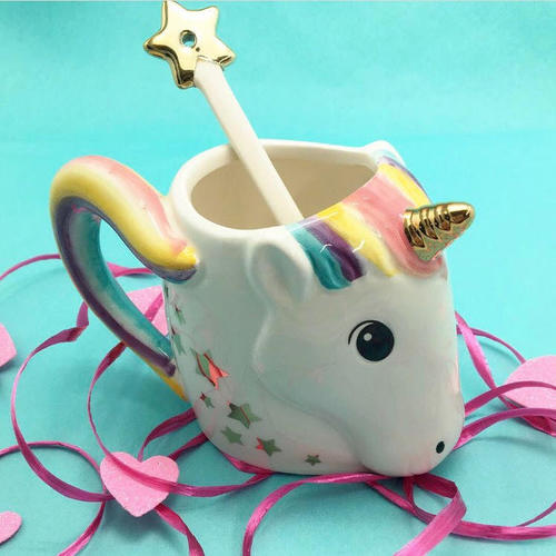 Unicorn Mug w/ Star Stirrer