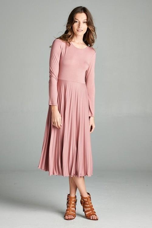 Megan midi dress (Mauve)