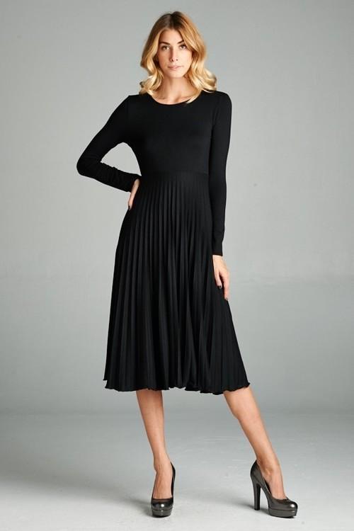 Megan midi dress (Black)