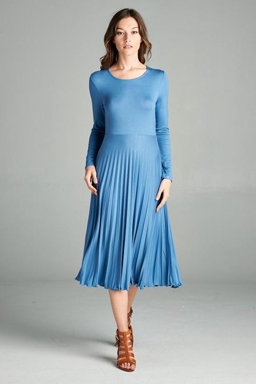 Megan midi dress (Cornflower)