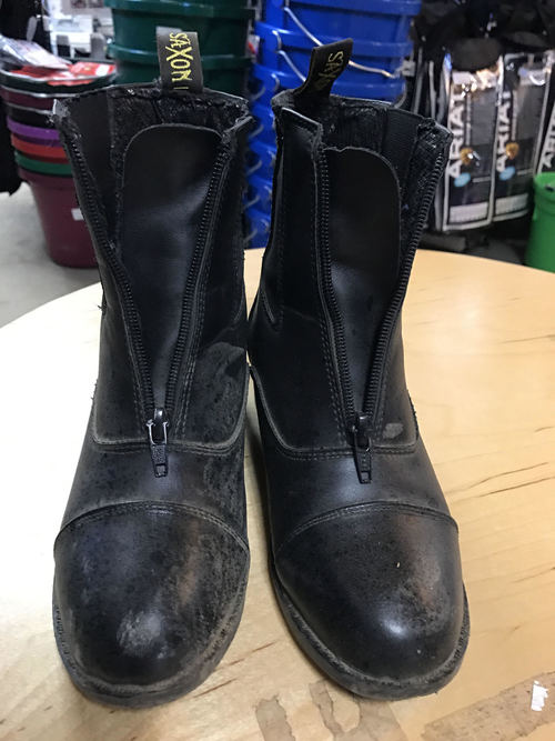Consignment Saxon Kids Paddock Boots Zip