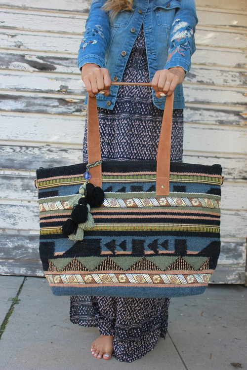 Navajo Carpet Tote Bag II