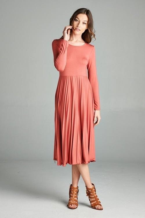 Megan midi dress (Light Marsala)