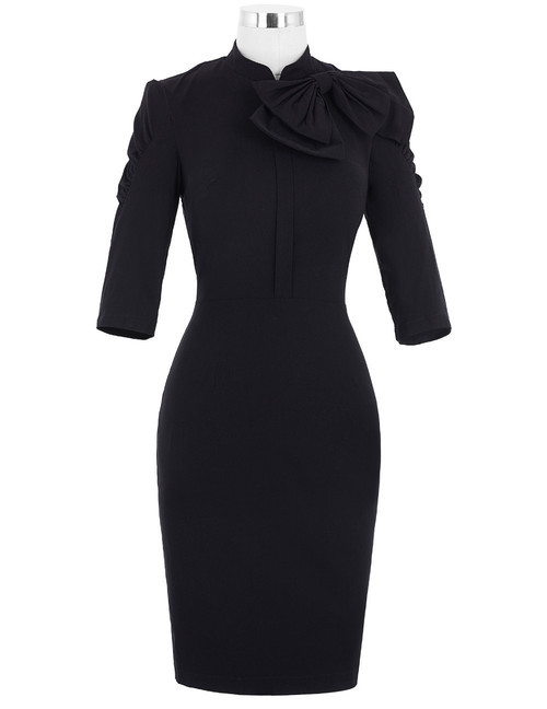 Dita Dress in Black or Burgundy *Online Exclusive*