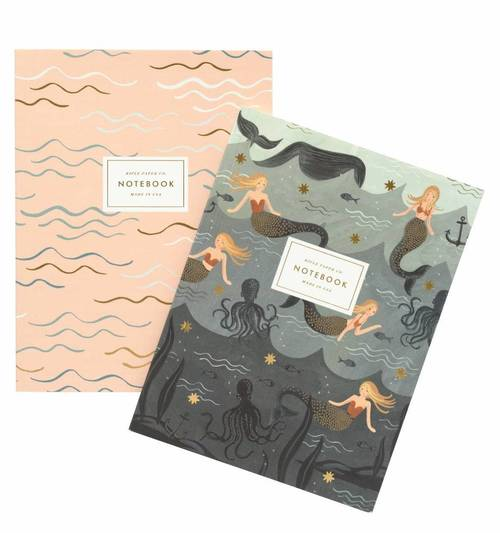 Vintage Mermaid Notebooks Set of 2