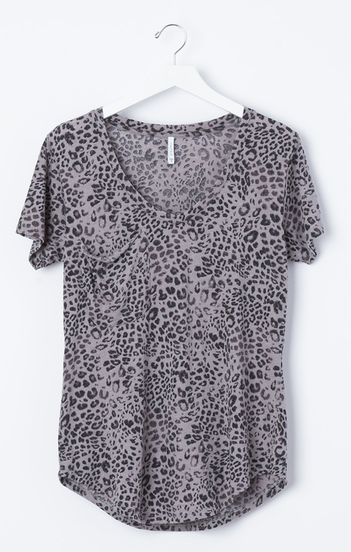 Leopard Pocket Tee Cloud Burst