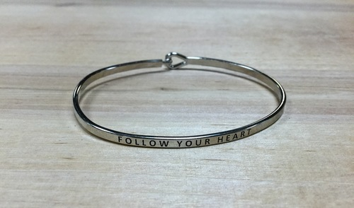 Follow Your Heart Silver Bracelet