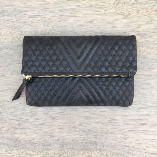 Quilted Purse/Clutch Black