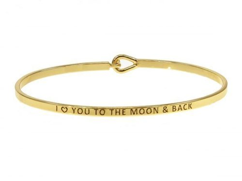 Love You to the Moon and Back Gold Bracelet