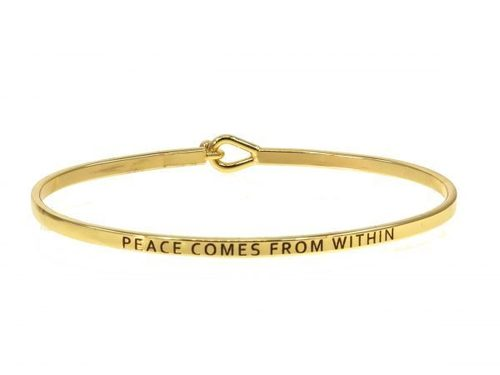 Peace Comes From Within Gold Bracelet