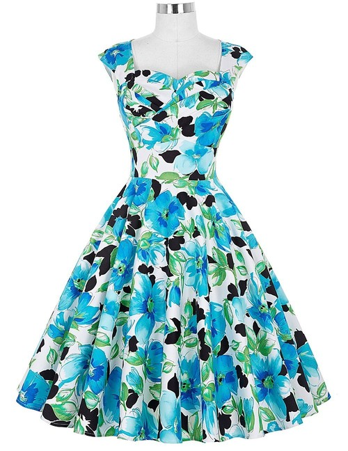 Rita dress in Watercolor Floral