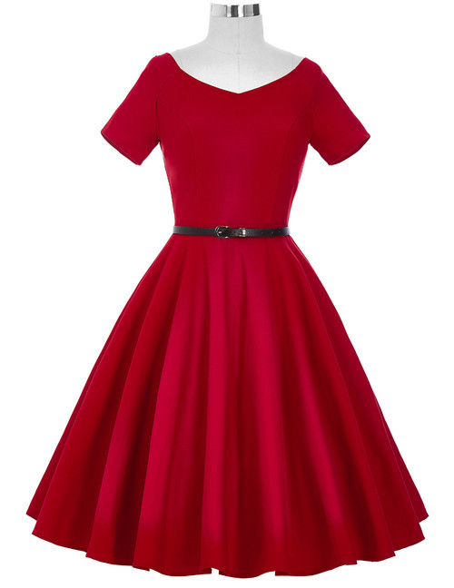 Doris Day Dress in Red