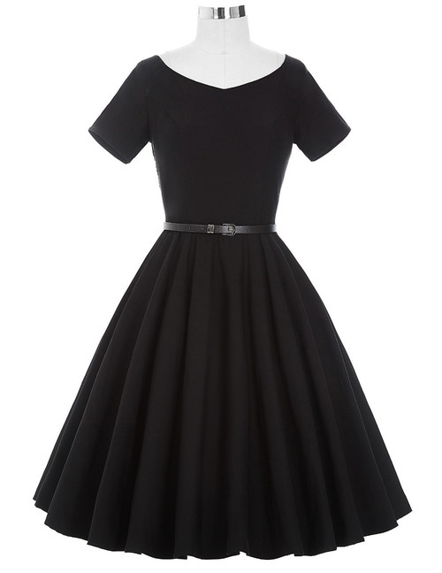 Doris Day Dress in Black