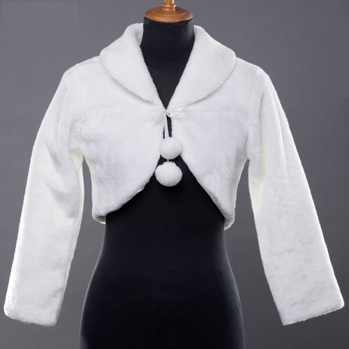 London Fog Bolero in white *Online Exclusive*