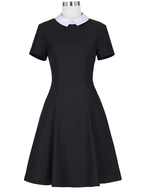 Wednesday Skater Dress in Black