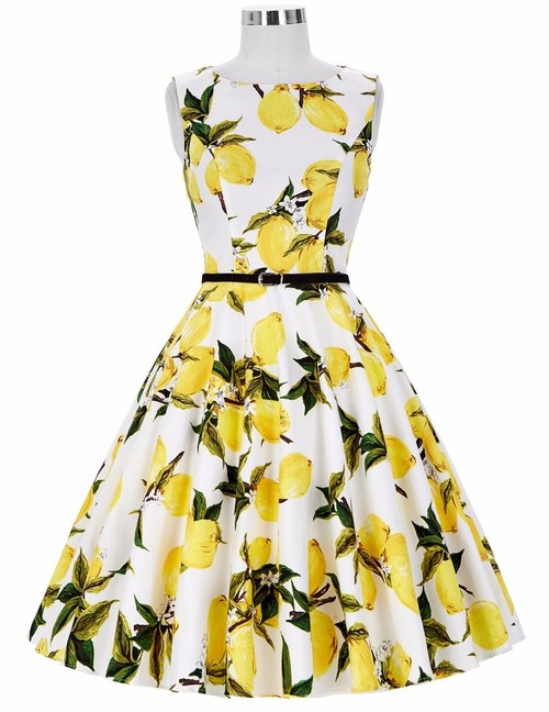 Felicity dress in Lemons