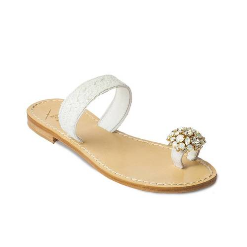 Embellished Toe Strap Sandal