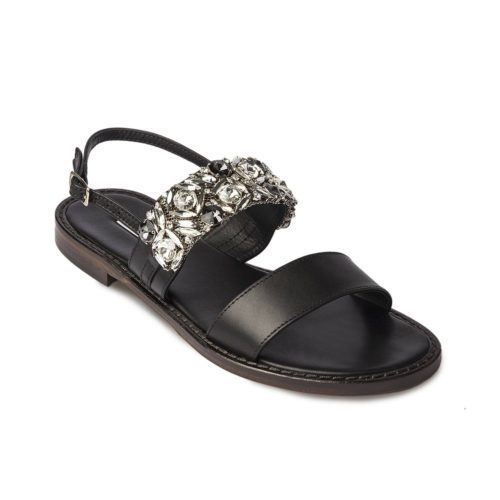 Embellished Leather Sandal