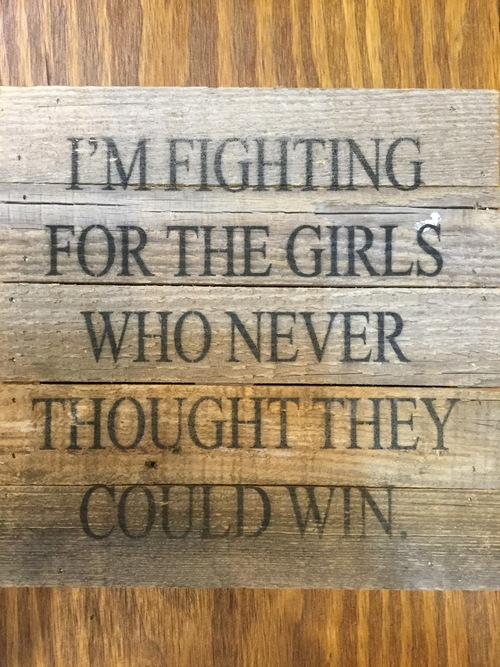 Fighting for the Girls Wall Art
