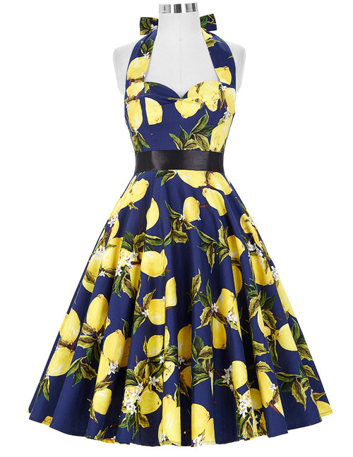 Norma Dress in Lemon Print