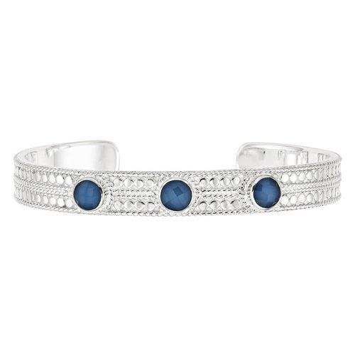 Blue Quartz Cuff- Silver