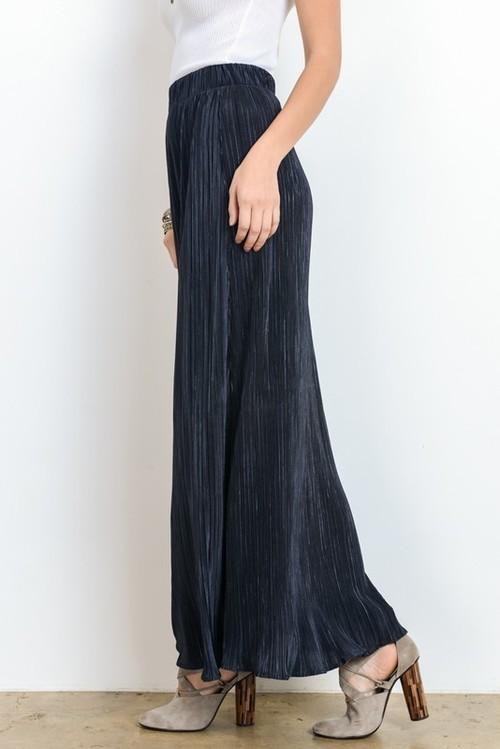 Long Plisse Maxi Skirt