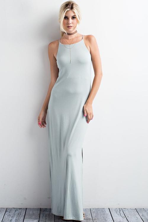 Sleek Side Slit Maxi Dress